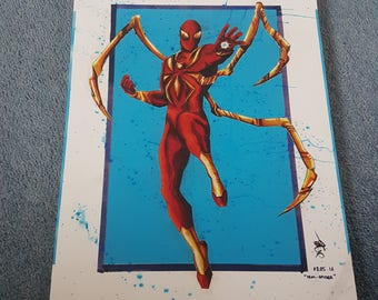 Iron Spiderman Prints (A3)