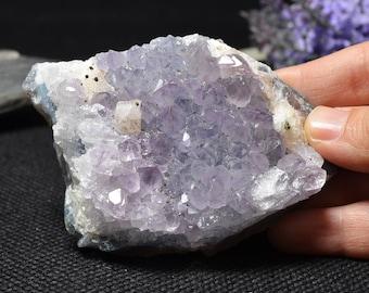 Best Natural Amethyst Cluster/Purple Amethyst cluster geode/special gift/Crystal grid-75*55*25mm 185g#r89