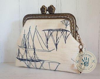Anchors away! purse, 8,5 cm