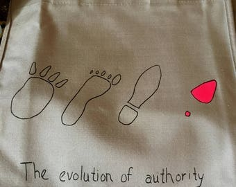 EVOLUTION OF AUTHORITY Vintage Canvas Tote Bag sample
