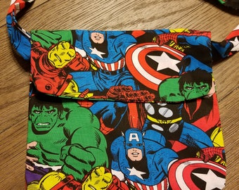 Child avengers mini messenger bag