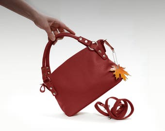 Leather bag soft leather handbag Italian cow leather crossbody women's handbag crossower shoulder bag small leather purse minimalist bag