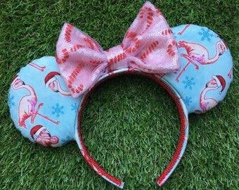 Flamingo Santa Mouse Ears