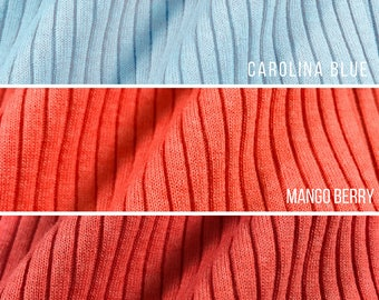 Textured 5x3 Rib Knit Fabric (Wholesale Price Available By the Bolt) USA Made Premium Quality - 6122PC - 1 Yard