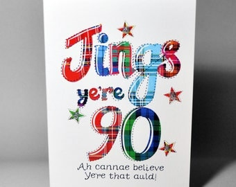 Scottish Jings 90 Card WWBI109