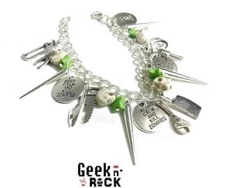 Rock jewelry - Zombie Charm Bracelet