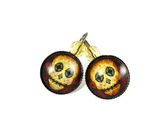 Skull earrings Calaveras - Mexican - sugar skull - dia los muertos - day of the dead