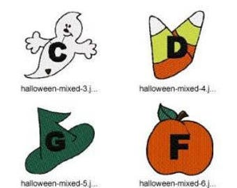 Alphabet-Halloween-Mixed ( 8 Machine Embroidery Designs from ATW ) XYZ17I