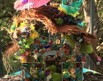 Island Hut tropical paradise fairy house