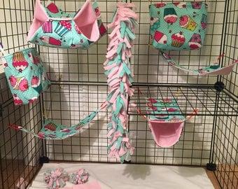 13 piece Sugar Glider cage set (cupcakes)