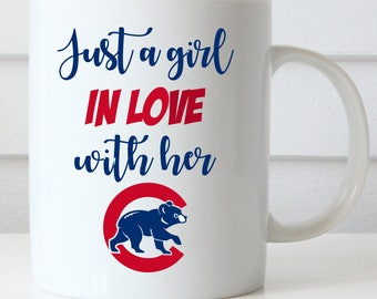 Chicago Cubs Coffee Mug, Just a Girl in Love With Her Cubs, Central Division Champions, GO CUBS GO Coffee Mug, Fly the W