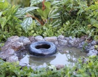 "20% OFF STOREWIDE Fairy Garden Swimming Hole, 7.5"" long, miniature fairy pond"