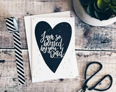 I Am So Blessed By You Dad A6 Card - Father's Day Cards - Happy Father's Day - Christian Cards - Bible Verse Cards