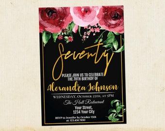 Adult birthday invitation Etsy