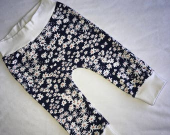 Ready to ship - baby girl pants - 6 months - flowers & butterflies