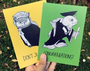 Graduating Goldfish Card