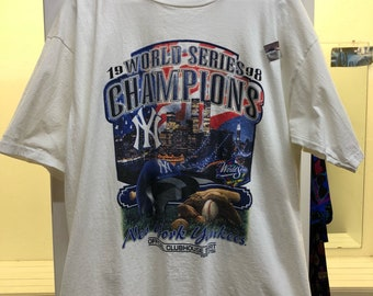 Vintage Starter 1998 New York Yankees World Series Champions T-Shirt