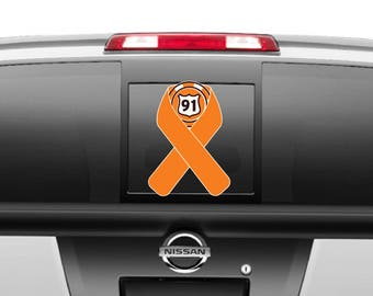 Route 91 Orange Ribbon Decal in different sizes