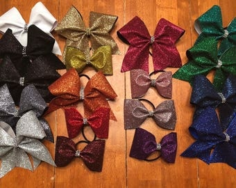 One-color Glitter Bow
