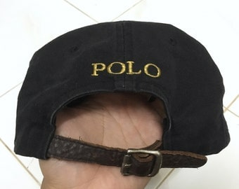 RARE!!! Polo Ralph Lauren Big Pony Cap Hat Leather Adjustable
