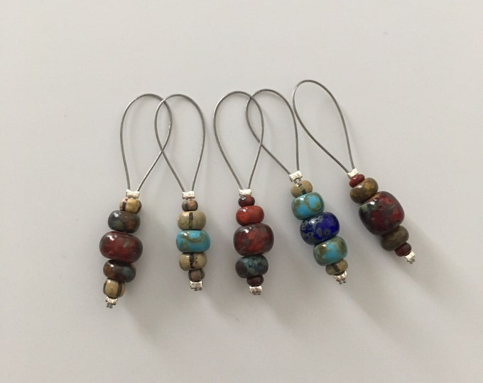 Stitch markers - stitch markers for knitting and crochet handmade - position markers - guard progress
