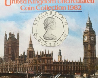 1982 Brilliant Uncirculated Coin Year Set Collection - Royal Mint