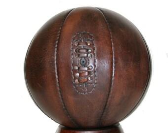Handmade Mini leather basketball, vintage style