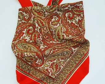Vintage 1970s pure silk scarf