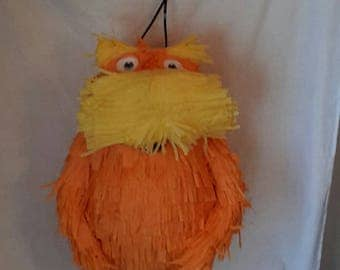 The lorax pinata. Inspired by dr. Seuss. Handmade. New