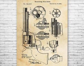 Colt Peacemaker Pistol Gun Poster Patent Print Gift FREE SHIPPING, Peace Maker, Colt Poster, Gun Wall Art, Revolver Patent, Pistol Patent