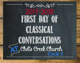 First Day Sign Classical Conversations