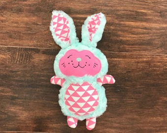 Easter Bunny, Stuffed Easter Bunny, Blue Stuffed Bunny, Gender Neutral Stuffed Bunny, Girl Stuffed Bunny, Stuffed Bunny, Easter Gift