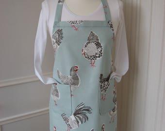 Ladies apron / Hens print apron
