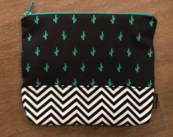 CACTUS / toiletry bag, cosmetic bag, makeup, portable!