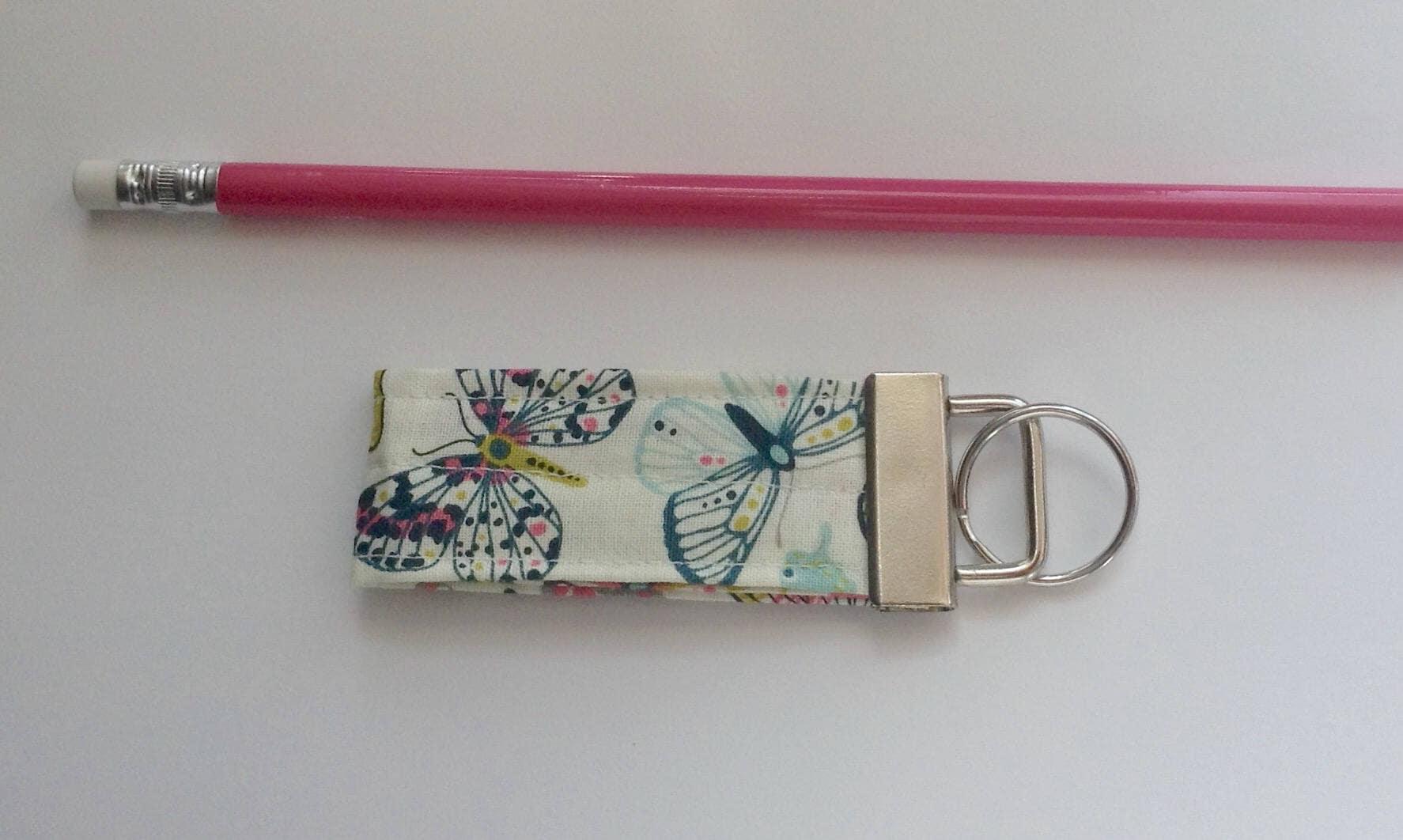 Mini keychain key fob key ring fabric keychain women s girls accessories-  butterfly print fabric 96c88b427