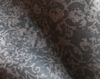 "Spooky Damask  4.375 yard of 44"" fabric steampunk"
