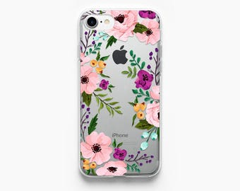iPhone 7 Case Floral iPhone 6s Case Clear iPhone 6 Case Flowers iPhone 6S Rose Gold Case iPhone 6 Vintage iPhone 7 Plus Case Transparent
