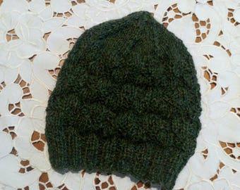 Warm and cosy hand knitted in beautiful alpaca yarn