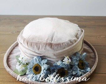 SALE  1910~1920's  Hat Vintage Style hat winter Hats hatbellissima ladies hats millinery hats  Hats with a Brooch