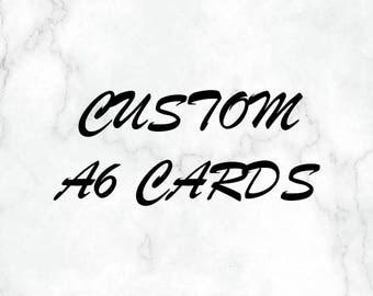 Customized A6 Cards