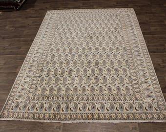 Delightful Allover Boteh Design Handmade Kashan Persian Rug Oriental Carpet 8X12