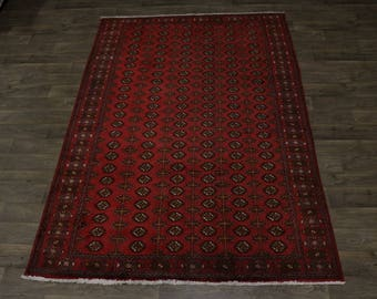 Nice S Antique Handmade Tribal Turkoman Persian Rug Oriental Area Carpet 6'5X10