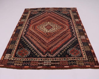 Stunning Pattern Rare S Antique Shiraz Persian Rug Oriental Area Carpet 5'7X7'9