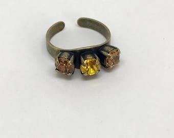 Swarovski 6mm 3-Stone Ring