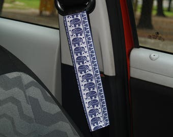 Elephants seat belt cover Blue seat belt cover Seat belt for woman Seat belt decor Seat belt decoration Car accessories Elephants car decor
