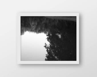 Reflection Black and White, Photography, Printable Art, Wall Decor, Instant Digital Download