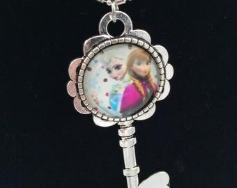 Disney Frozen Elsa & Anna Key Necklace
