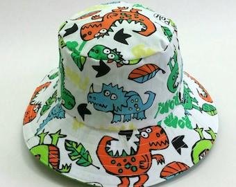 Boys hat, bucket hat,sun hat, child hat, baby boy hat, boys hat, sunhat, wide brim hat, new baby, baby boy, dinosaur theme hat, babyshower