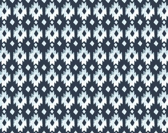 ORGANIC Cotton Fabric Aztec Diamond from Monaluna Journey Geometric Quilting Weight Southwest Modern Poplin by the Yard