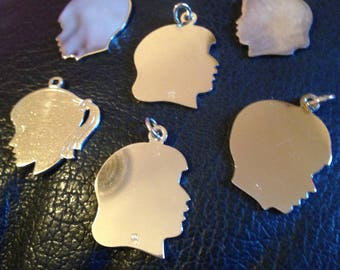 Sterling Silver Charms of Children's Head